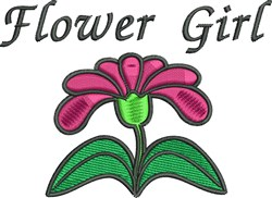 Flower Girl embroidery design