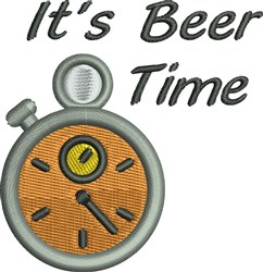 Beer Time embroidery design