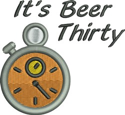 Beer Thirty embroidery design