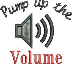 Pump Volume embroidery design