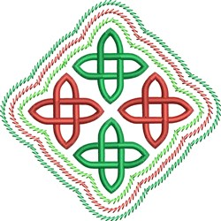 Celtic Christmas embroidery design