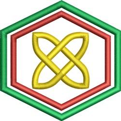Celtic Hexagon embroidery design