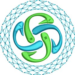 Spiral Decoration embroidery design
