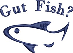 Gut Fish? embroidery design