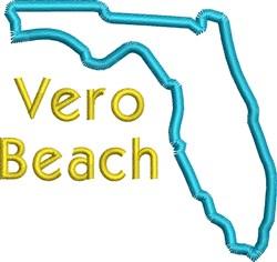 Vero Beach embroidery design