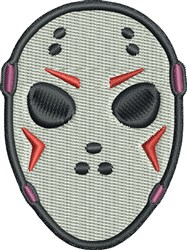 Goalie Mask embroidery design