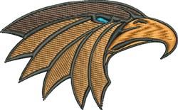 Hawk Mascot embroidery design