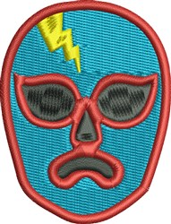 Lucha Libre Head embroidery design