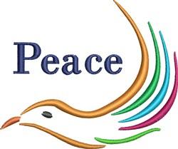 Peace Bird embroidery design