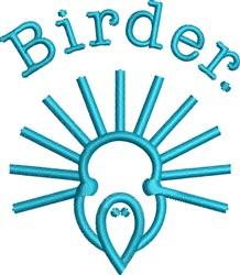 Birder Bird embroidery design