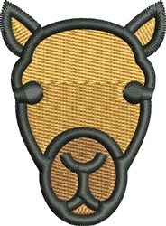 Camel Face embroidery design