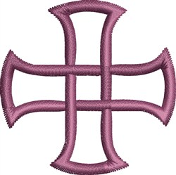 Twist Cross embroidery design