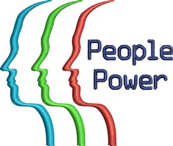People Power embroidery design