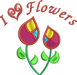I Heart Flowers embroidery design