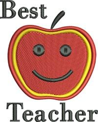 Best Teacher Apple embroidery design