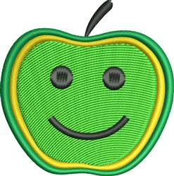 Happy Apple embroidery design