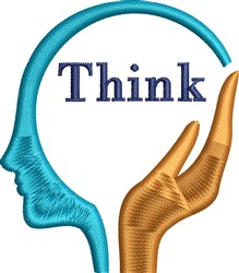 Think Head embroidery design