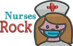 Nurses Rock embroidery design