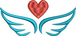 Heart Wings   embroidery design