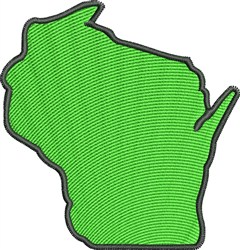 Wisconsin Map embroidery design