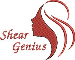Shear Genius embroidery design