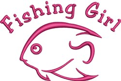 Fishing Girl embroidery design