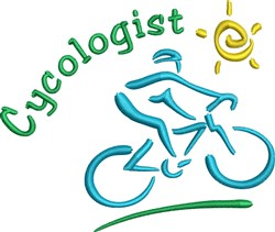 Cycologist embroidery design