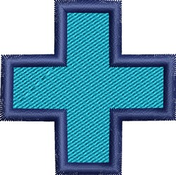 Blue Cross embroidery design