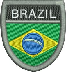 Brazil Shield embroidery design