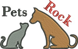 Pets Rock embroidery design
