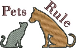 Pets Rule embroidery design