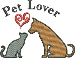 Pet Lover embroidery design