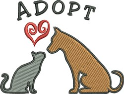Adopt embroidery design