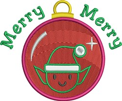 Merry Ornament embroidery design