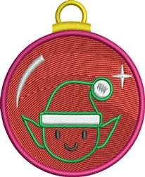 Christmas Elf Ornament embroidery design