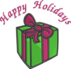Holiday Present embroidery design
