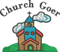 Church Goer embroidery design