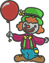 Clown with Balloon embroidery design
