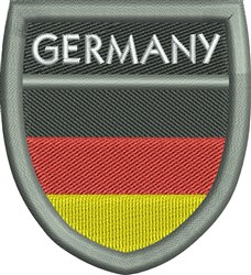 Germany Shield embroidery design