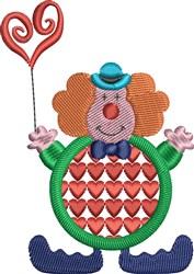 Heart Clown embroidery design