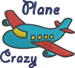 Plane Crazy embroidery design