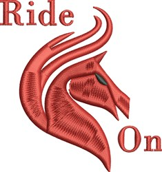 Ride On embroidery design