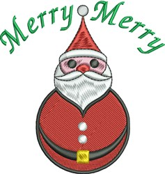 Merry Santa embroidery design