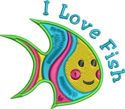 I Love Fish embroidery design