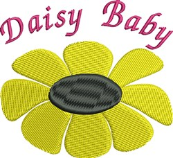Daisy Baby embroidery design