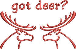 Got Deer? embroidery design