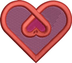 Double Heart embroidery design