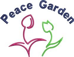 Peace Garden embroidery design