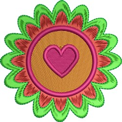 Flower Heart embroidery design
