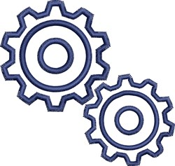 Gears Outline embroidery design